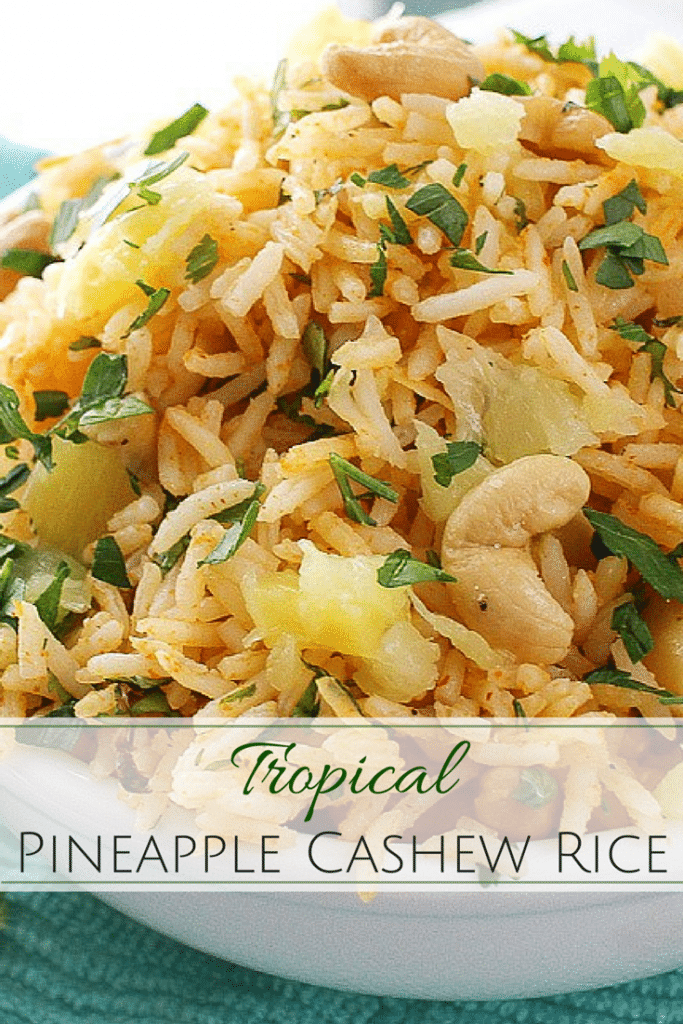 Tropical Coconut Pineapple Cashew Rice The Chunky Chef