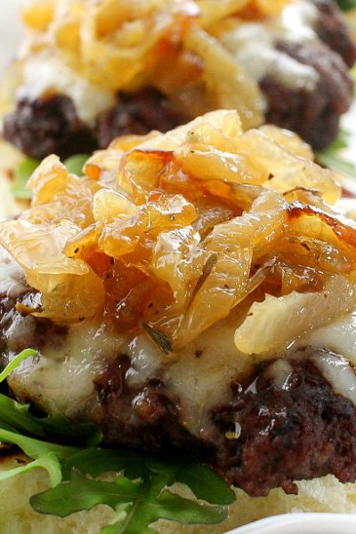 Caramelized Onion Beef Sliders