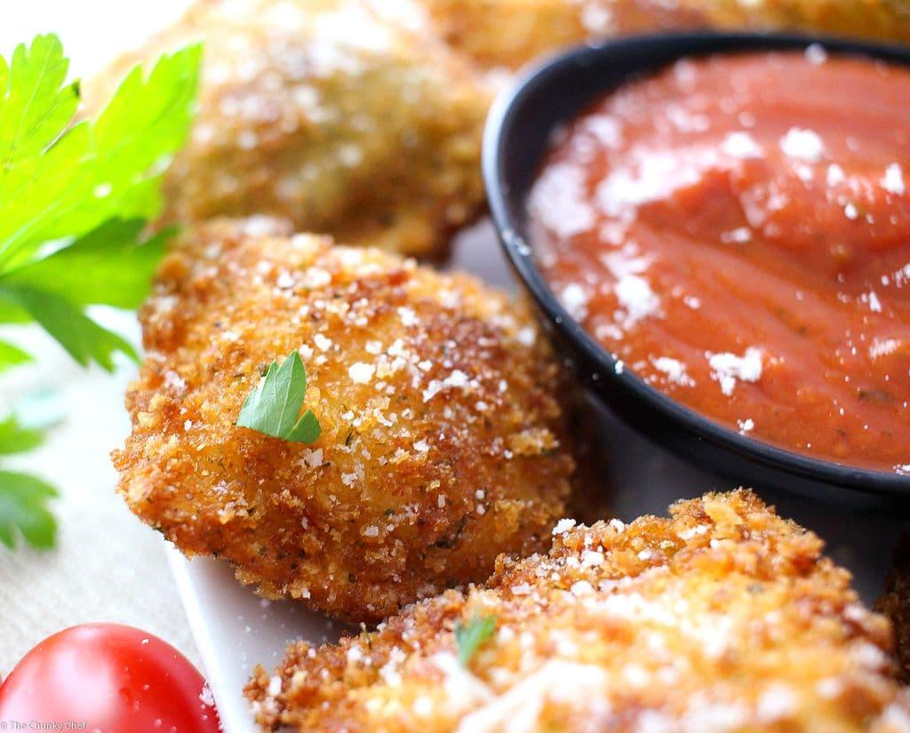 Crispy Fried Ravioli - The Chunky Chef