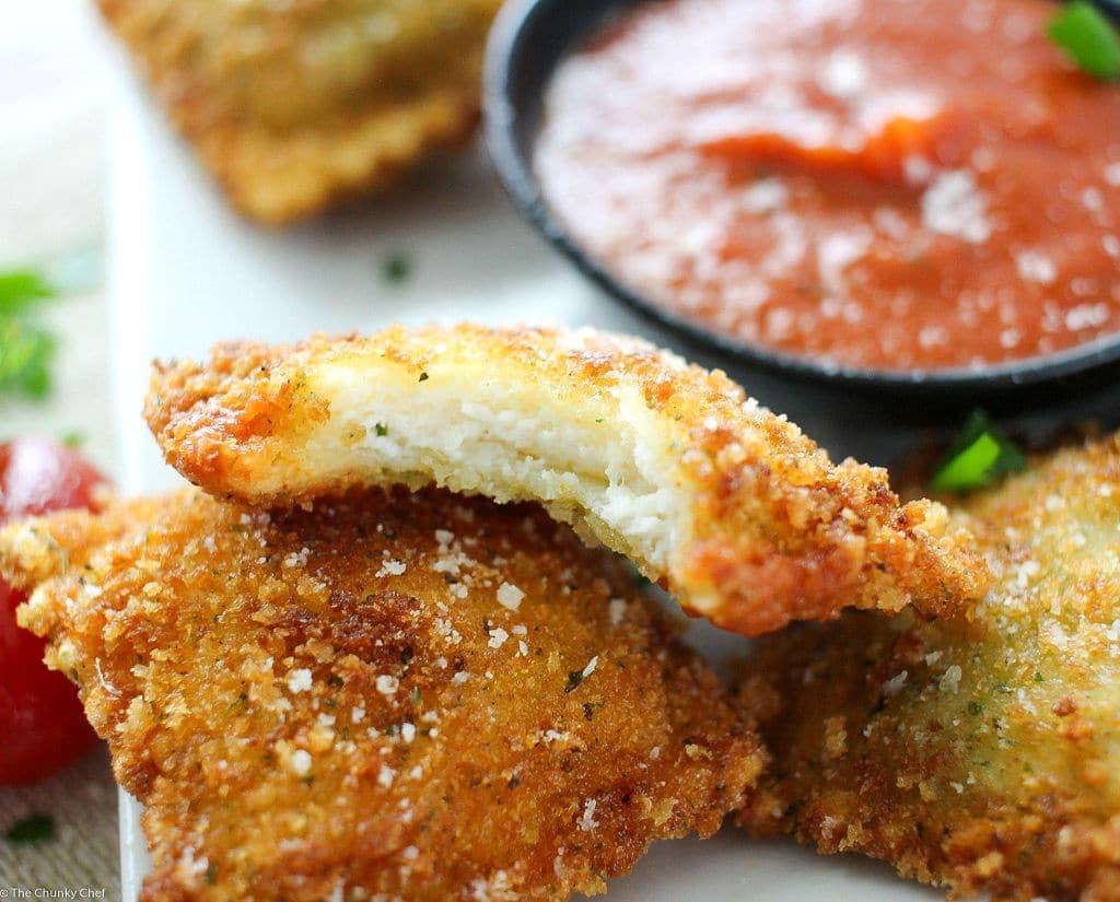 Crispy Fried Ravioli The Chunky Chef