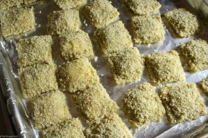 The Chunky Chef   Crispy Fried Ravioli    Like Olive Garden's toasted ravioli, but better! This crispy fried ravioli is easy to make, yet impressive. Perfect for a party, or the family dinner table.