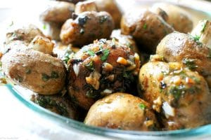 Garlic and Balsamic Roasted Mushrooms - The Chunky Chef