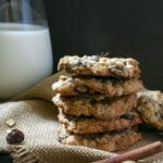 Spiced Brandy Oatmeal Raisin Cookies