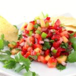 Summer Strawberry Jalapeno and Pineapple Salsa