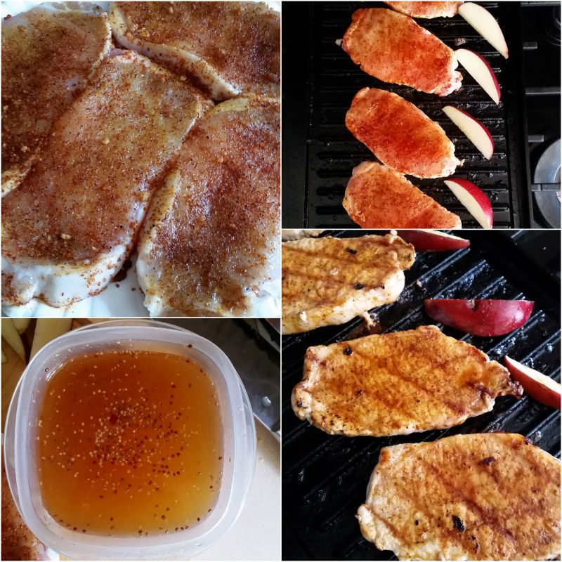Apple Cider And Thyme Grilled Pork Chops The Chunky Chef