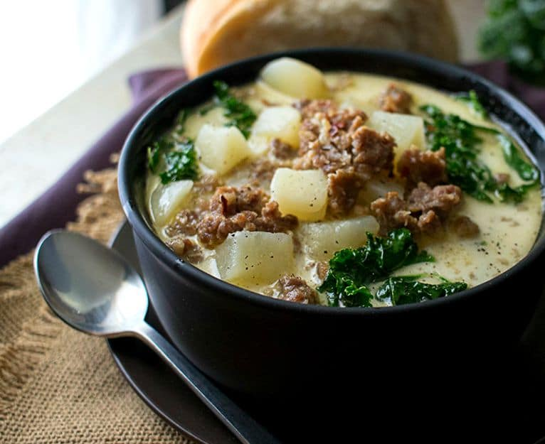 Cooker Zuppa Toscana | The Chunky Chef | The classic zuppa toscana ...