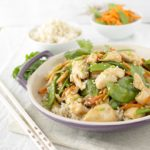 Velveted Chicken Stir Fry | The Chunky Chef | This healthy chicken stir fry is prepared in the authentic Chinese method of velveting. It's customize-able, so add whatever vegetables you like!