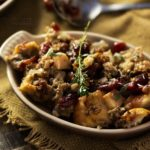 Harvest Sausage Stuffing with Pecans and Cranberries