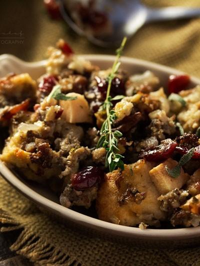 Harvest Apple Cranberry and Sage Sausage Stuffing