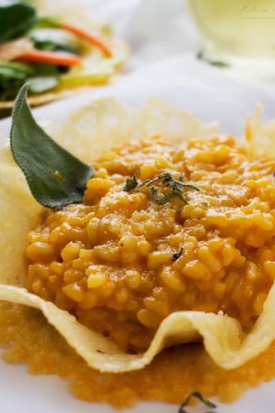 Pumpkin Risotto in Edible Parmesan Bowls – #FoodieMamas