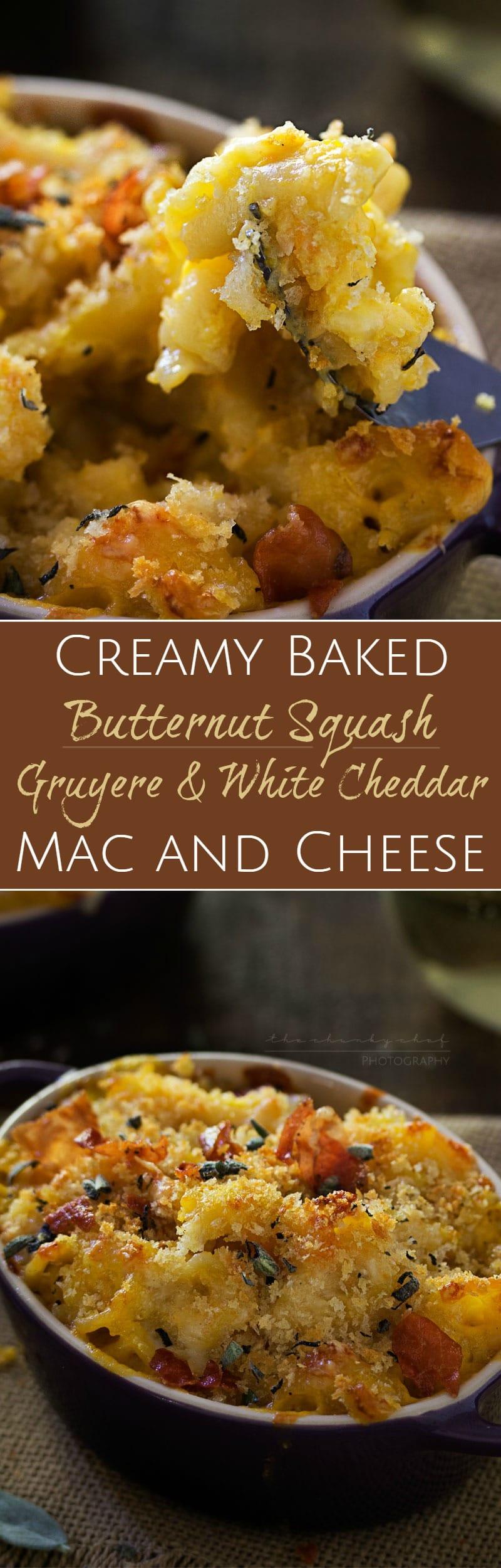 Butternut Squash, Gruyere and White Cheddar Mac and CheeseThe