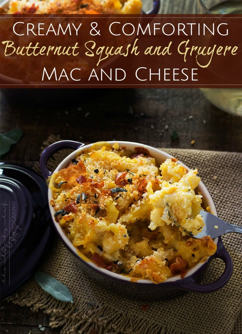 baked mac n cheese with gruyere and butternut squash baked mac n ...