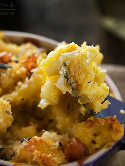 Butternut Squash, Gruyere and White Cheddar Mac and Cheese