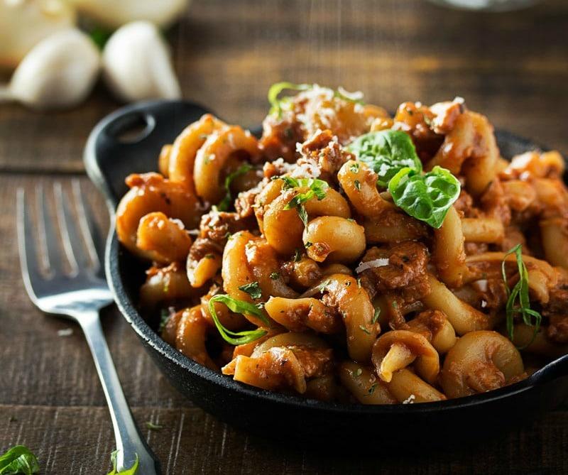 20 Minute Vegetarian Skillet Lasagna