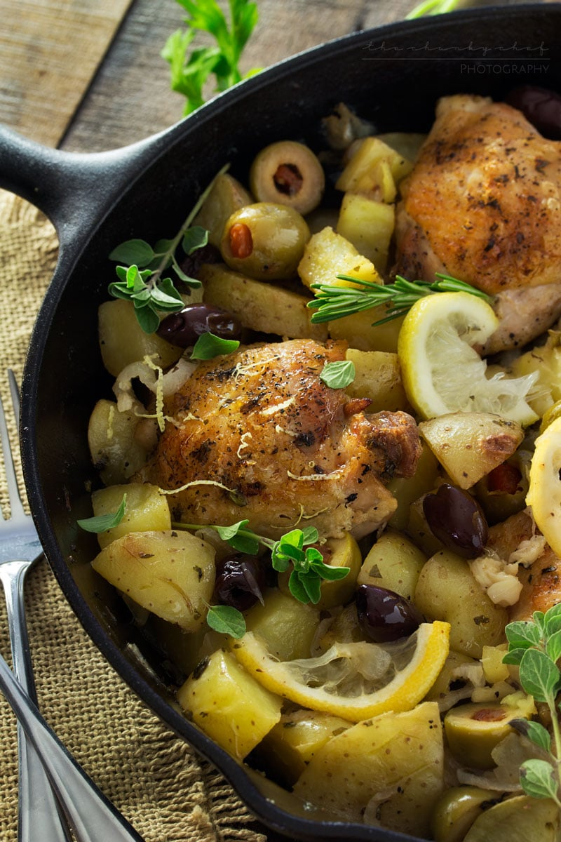 Braised Chicken With Potatoes, Olives, And Lemon Recipe ...