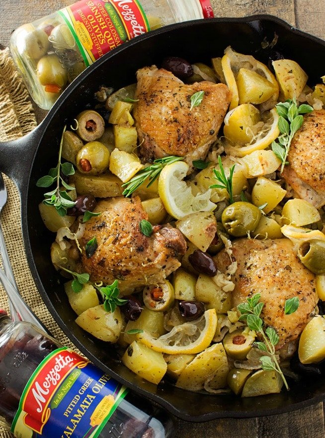 and tender braised chicken is cooked with potatoes, Mezzetta olives ...