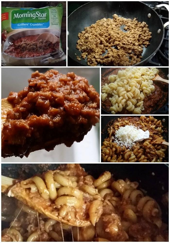 20 Minute Vegetarian Skillet Lasagna The Chunky Chef