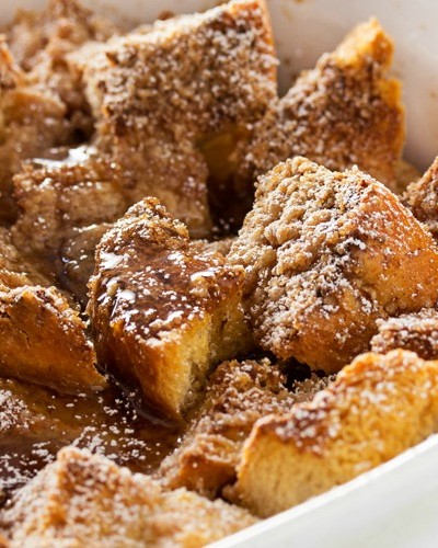Overnight Bourbon Cinnamon French Toast Bake