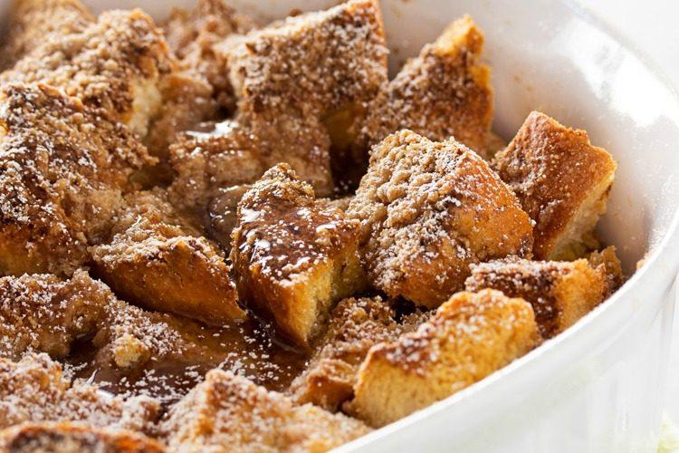 Overnight Bourbon Cinnamon French Toast Bake