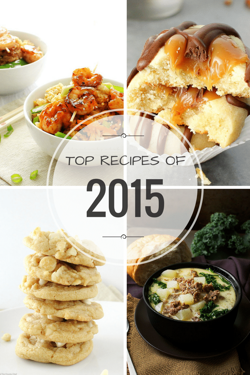 As the year is coming to a close, here are the top recipes from 2015 here on The Chunky Chef!