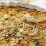 Hot and Cheesy Caramelized Onion Dip