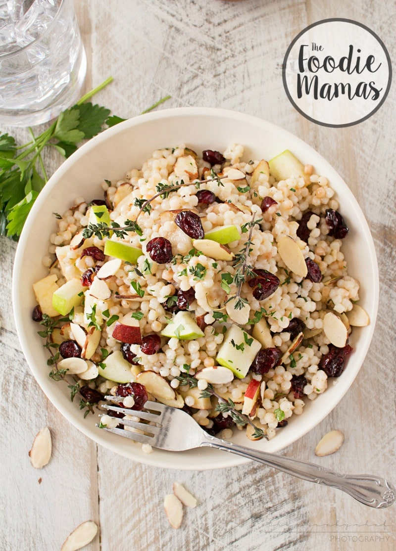 Israeli Couscous Harvest Salad - The Chunky Chef
