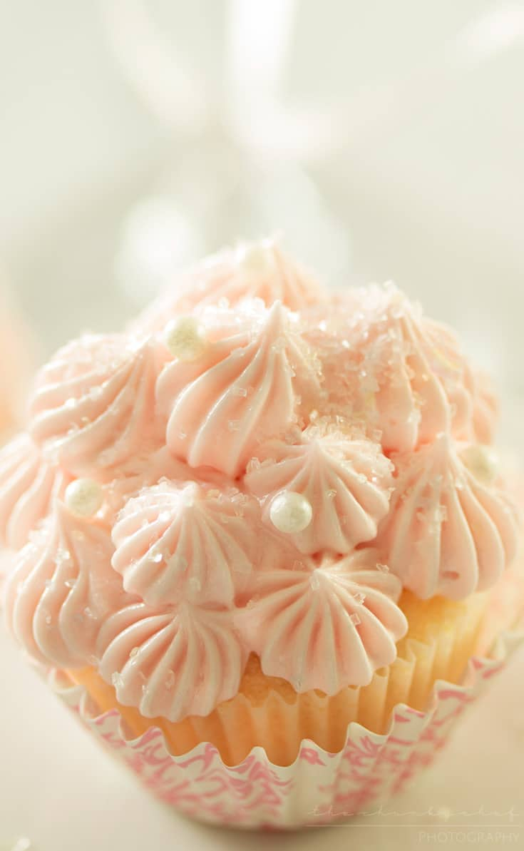 Pink Champagne Cupcakes - The Chunky Chef
