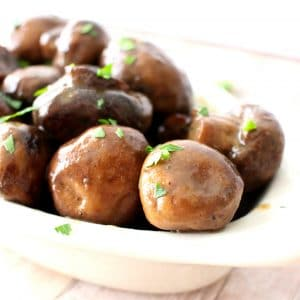 3 Ingredient Slow Cooker Ranch Buttered Mushrooms2-square