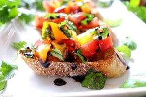 5 Ingredient Heirloom Tomato Bruschetta-1-12