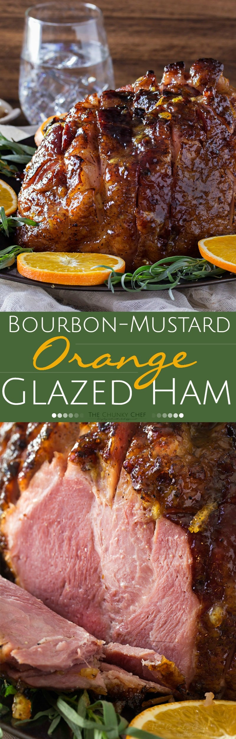 Bourbon Mustard Orange Glazed Ham | Sticky, sweet, tangy, and full of ...