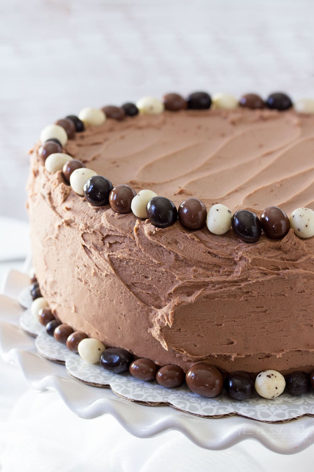 Buttermilk Chocolate Layer Cake - The Chunky Chef