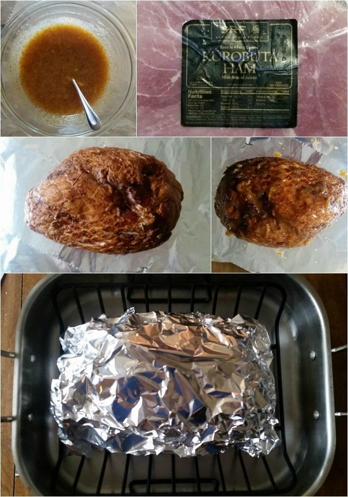 Glazed Ham-process