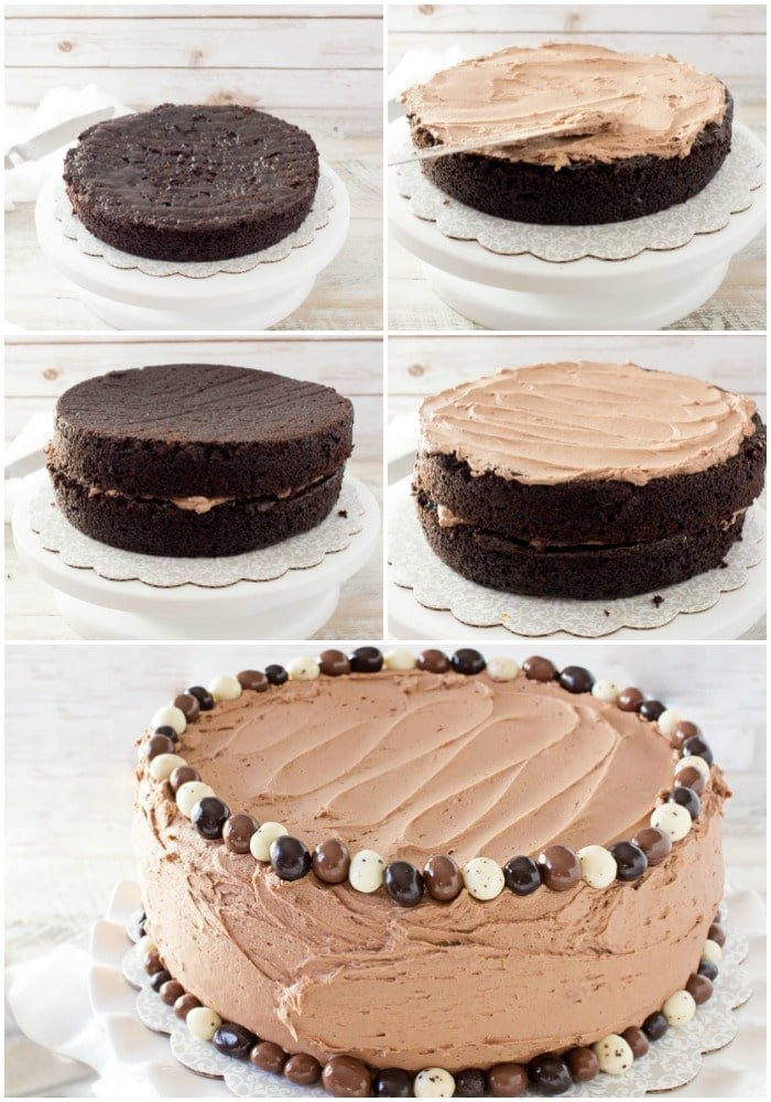 Professional Cake Decorating Frosting Recipe : Buttermilk Chocolate Layer Cake - The Chunky Chef