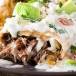Smothered Beef Barbacoa Chimichangas