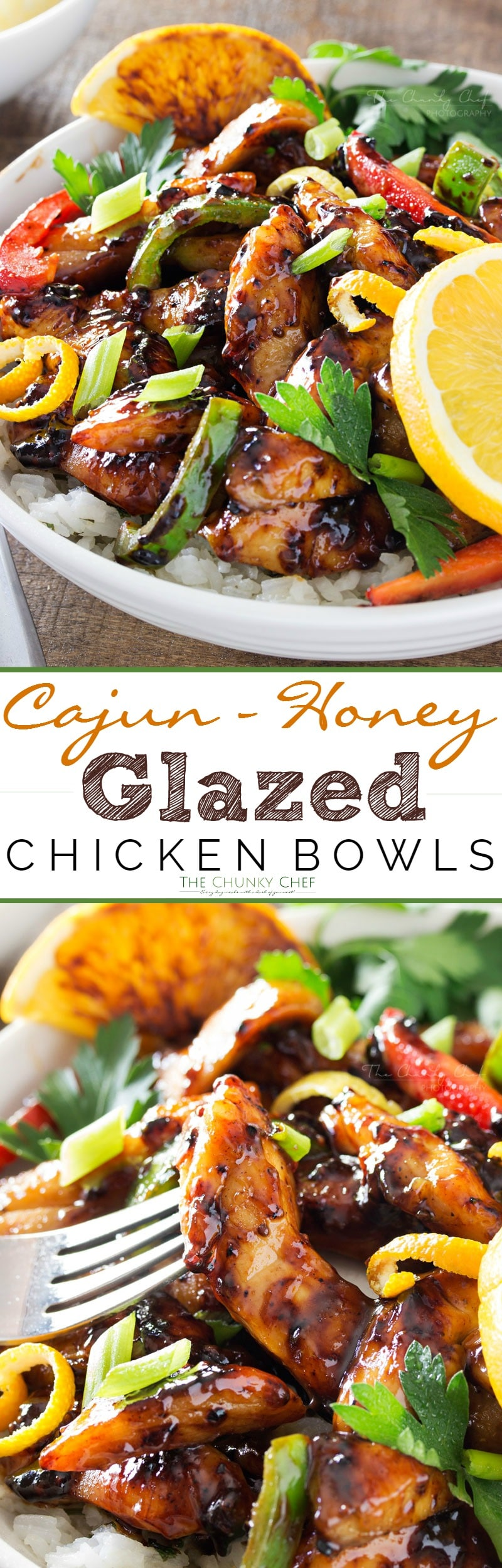 Cajun Honey Glazed Chicken Bowls | This Cajun honey glazed chicken ...