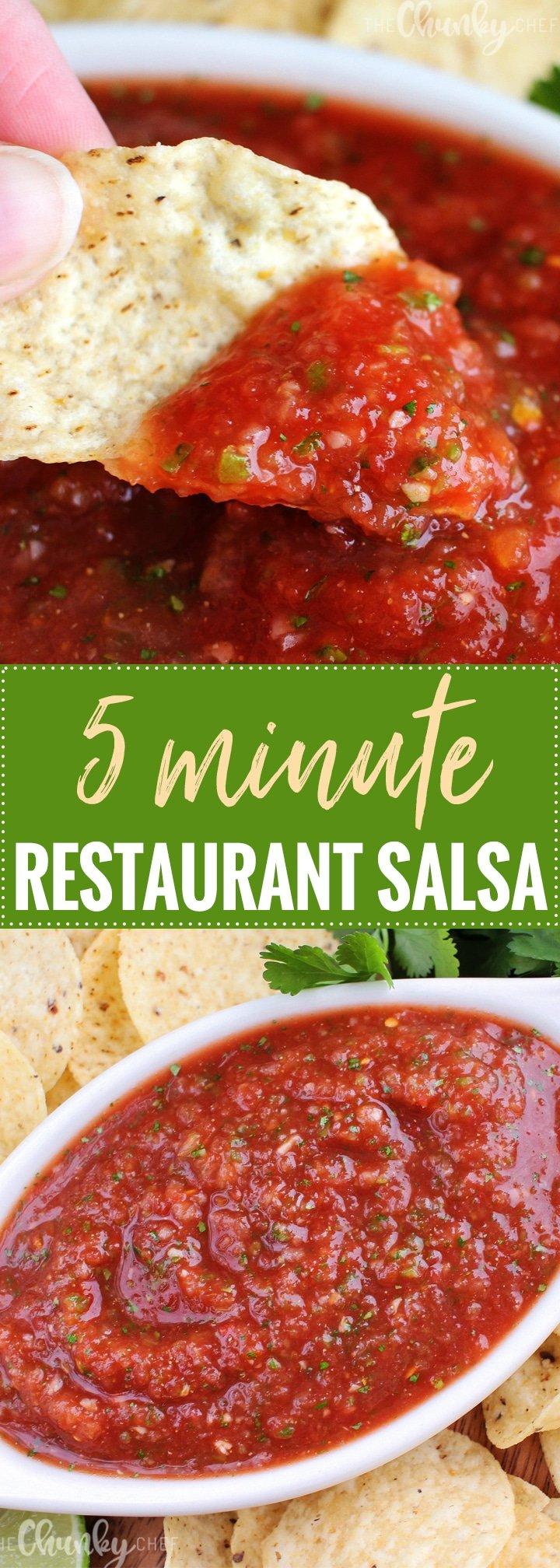 5 minute restaurant salsa the chunky chef