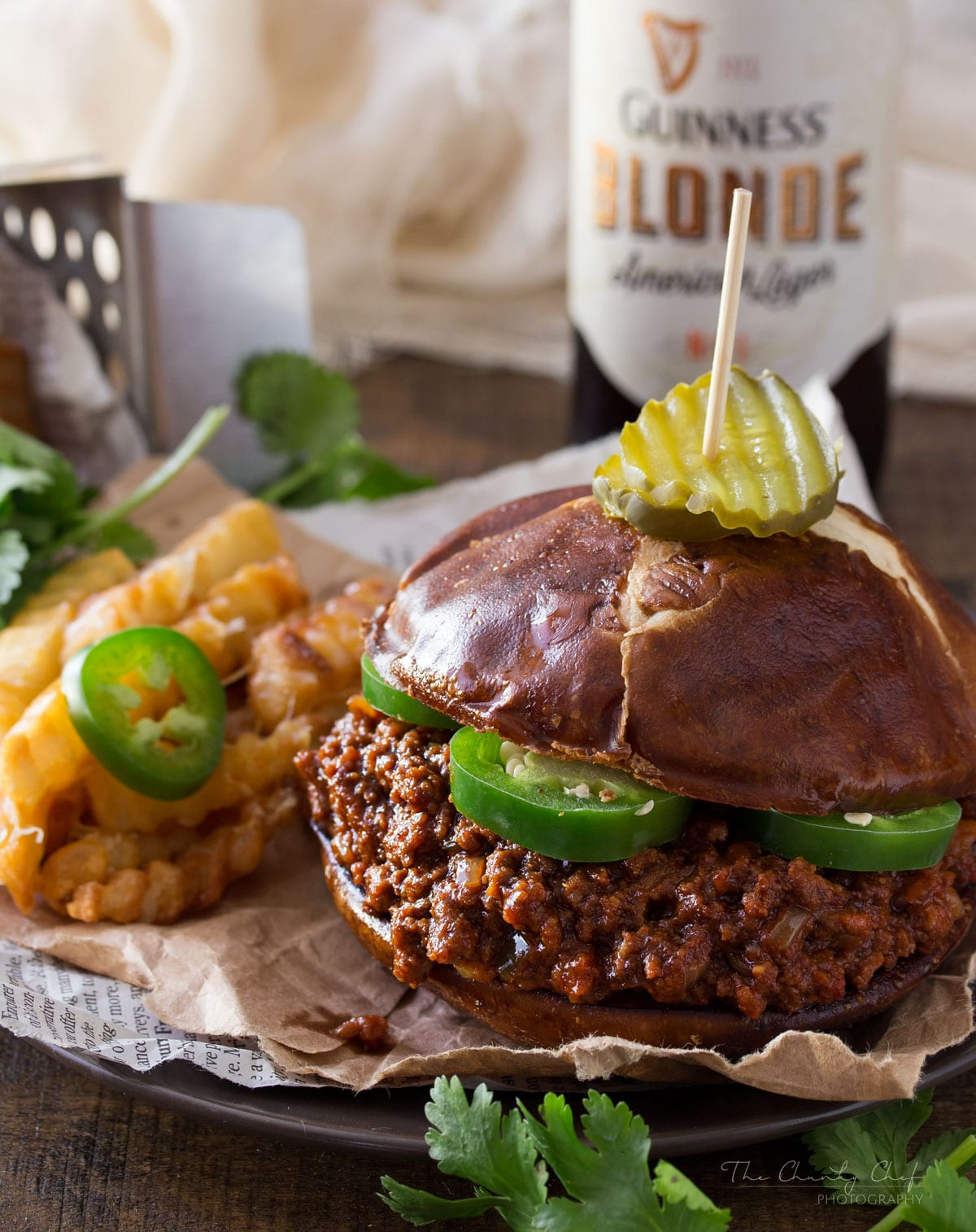 Beef Beer and Chorizo Sloppy Joes | These aren't the usual sloppy joes... made with beef, spicy chorizo, jalapeno and beer, they're an adult version of everyone's favorite childhood sandwich! | http://thechunkychef.com