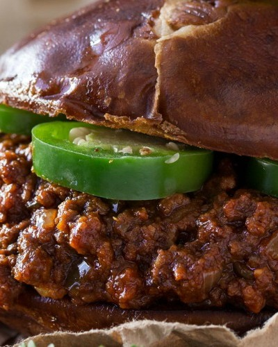 Beef Chorizo and Beer Sloppy Joes