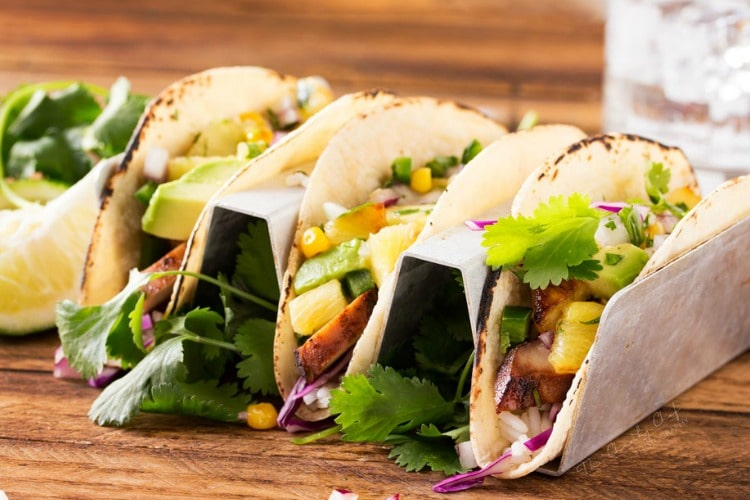 Tequila Lime Chicken Tacos with Grilled Pineapple Salsa