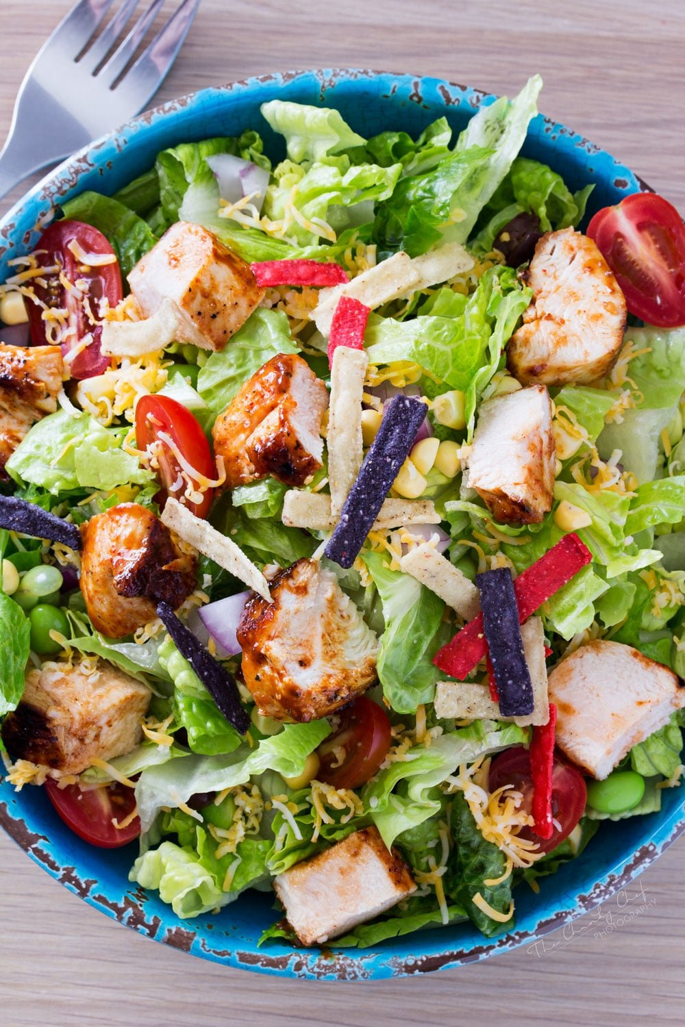 bbq salad chicken grilled fresh recipe chef sauce thechunkychef quick ranch rub
