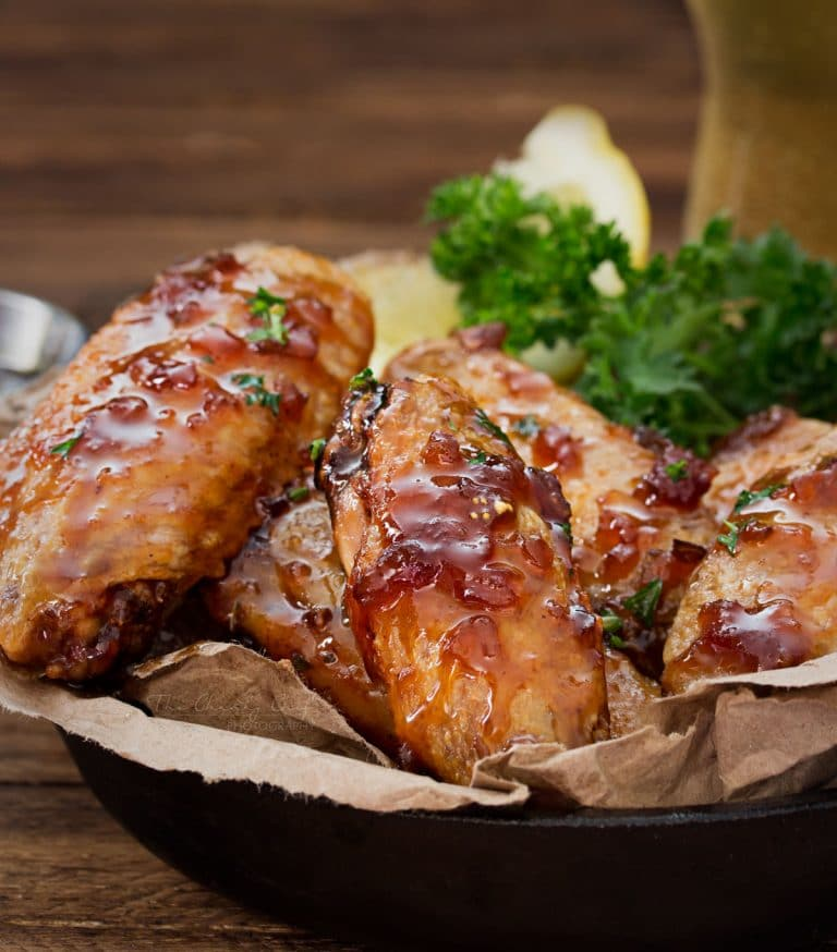 Jack Daniels Glazed Baked Chicken Wings | New Year's Eve Recipes To Serve At Your Cocktail Party | New Year's Eve Recipes