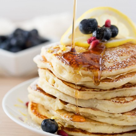 Lemon Ricotta Pancakes   Soft and fluffy ricotta pancakes infused with great lemon zest flavor... perfect for a special occasion breakfast, but easy enough to make every day!   http://thechunkychef.com