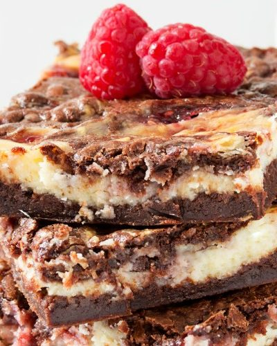 Raspberry Cheesecake Brownies