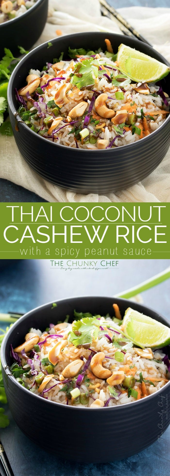 Thai Coconut Cashew Rice - The Chunky Chef