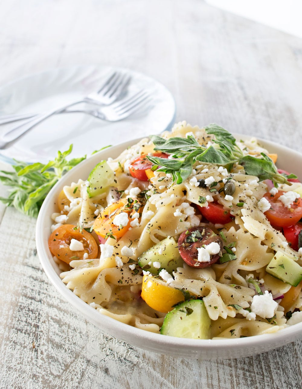 Mediterranean Pasta Salad | Step up your pasta salad game with this ...