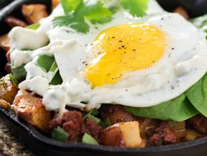 Chorizo Potato Hash with Jalapeno Aioli