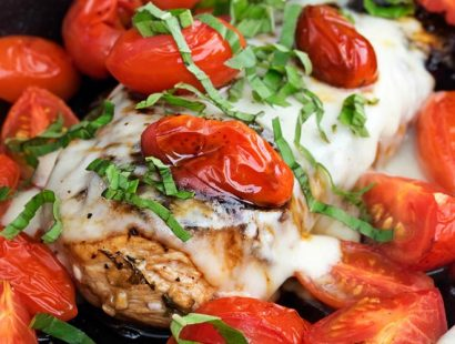 Garlic Balsamic Caprese Chicken