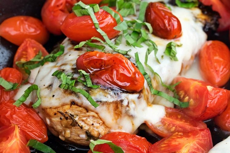 Garlic Balsamic Caprese Chicken