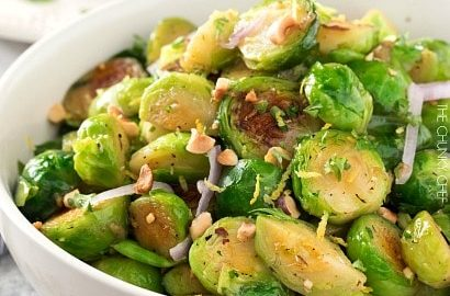 Brussels Sprouts with Toasted Hazelnut Butter - The Chunky Chef