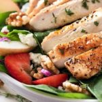 Grilled Chicken Strawberry Spinach Salad